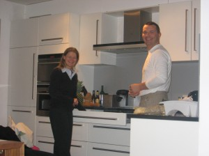 Sofie and Luc cook us a supper of moules and frites